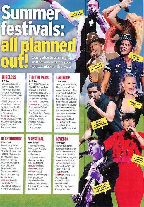 Heat Magazine 12-18 April 2014 - Drake live at The O2 Arena 24/3/14
