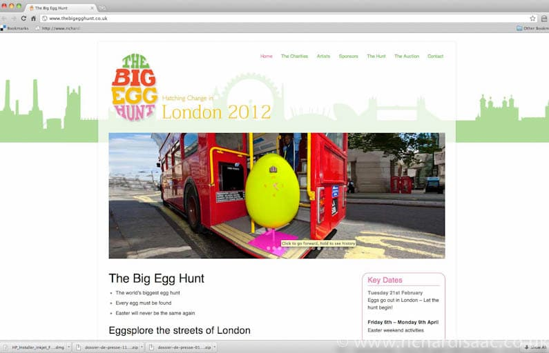The Fabergé Big Egg Hunt PR shoot July 2011 - web page http://www.thebigegghunt.co.uk/