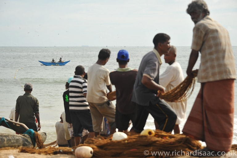 Fishing in Galle, Sri Lanka