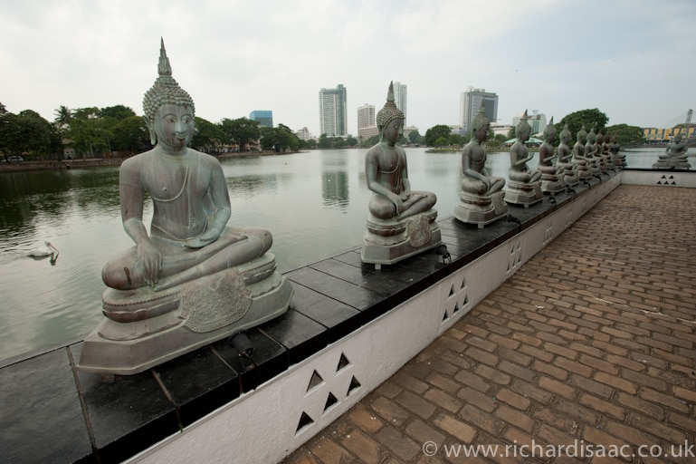 Statues of the Buddha - Seema Malaka Buddhist temple - Colombo, Sri Lanka