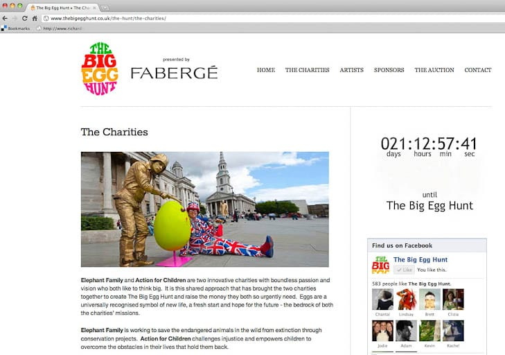The Fabergé Big Egg Hunt - my shots are being used across initiative's marketing/PR activity