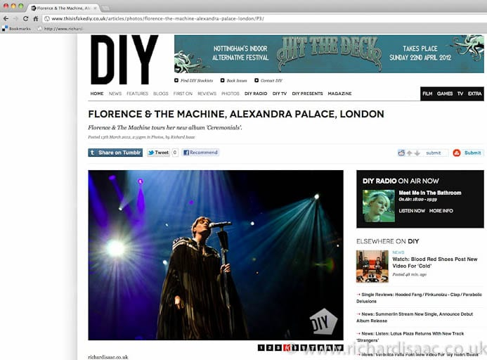 Florence and the Machine live at Alexandra Palace, 11 March 2012