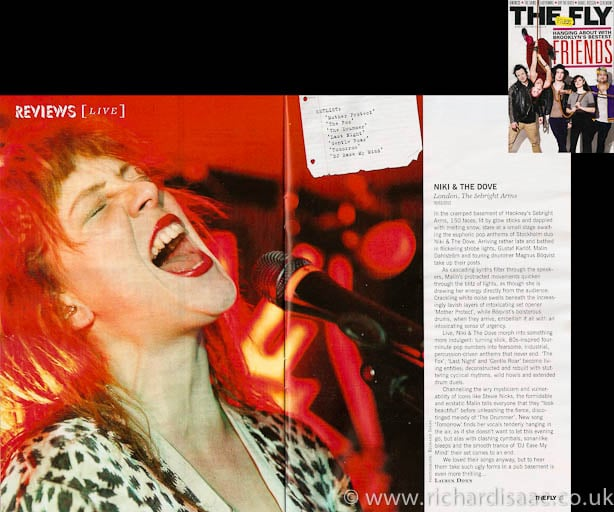 The Fly March 2012 issue - Niki & the Dove live at The Sebright Arms, 9 Feb 2012