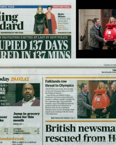 The Fabergé Big Egg Hunt - Press shots published in the Evening Standard 28 Feb 2012