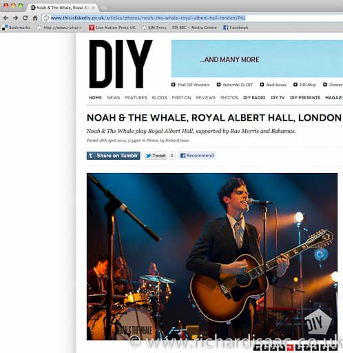 thisisfakeDIY - Noah and the Whale live at The Royal Albert Hall, 16 April 2012