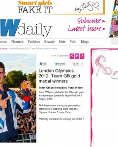 Now Magazine online pic usage - Team GB Olympic Medallist Peter Wilson at BT London Live 2012, Aug 2012