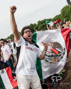 Mexican football fans watch their country beat Brazil to win Olympic Gold -Hyde Park 11/08/12
