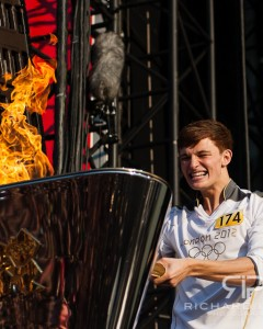 Tyler Rix, the final London 2012 Olympic Torch Bearer 26/07/2012