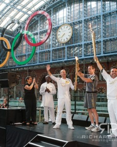London 2012 Olympics Torch Relay St Pancras 26/07/12