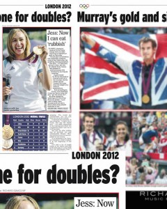 Picture usage - Daily Express 6 August 2012 - Jessica Ennis