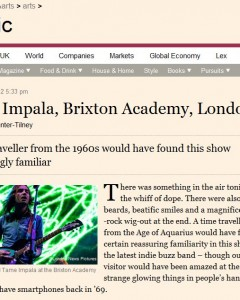 FT.com picture usage 31/10/12 - Tame Impala live at O2 Academy Brixton, 30/10/12