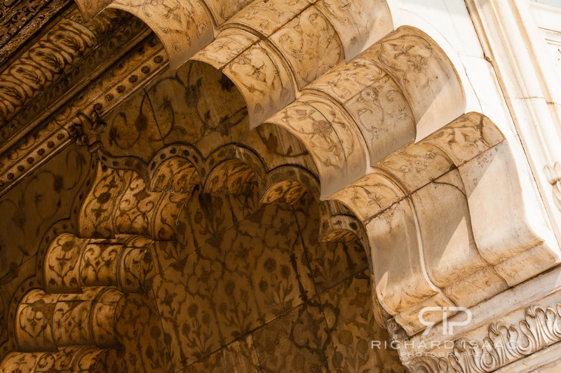 Scalloped archways at The Red Fort, Delhi - 13/11/12