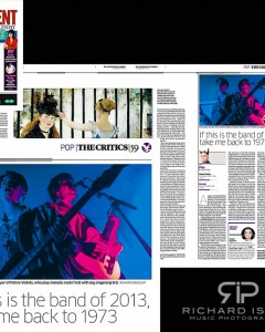 The Independent on Sunday 13/1/13 – Palma Violets live at The Boston Arms, 10/1/13
