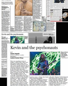 Financial Times global print usage 1/11/12 - Tame Impala live at Brixton Academy 30/10/12, for full shoot see http://www.richardisaac.co.uk/2012/10/tame-impala-brixton/