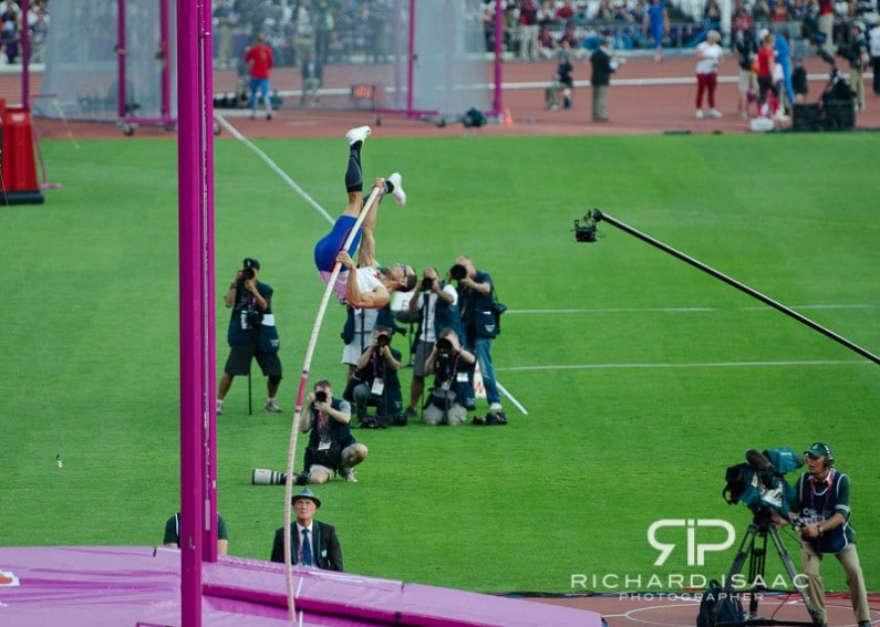 The men's high jump in the London 2012 Olympics at the Olympic Stadium - 10/8/12