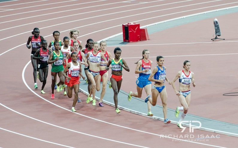 Women's athletics at the Olympic Stadium in the London 2012 Olympics - 10/8/12