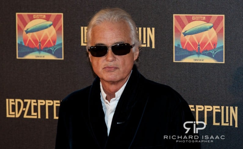 Led Zeppelin guitarist Jimmy Page at the premiere of the band's live performance film Celebration Day, London - 12/10/12