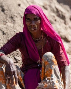 A village woman - near Udaipur in Rajasthan, India