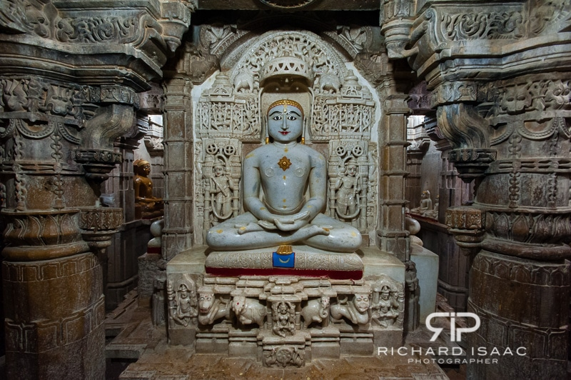 Inside one of the fort's Jain temples