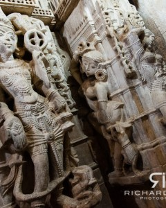 Wall carvings at the Jain temple in Jaisalmer fort - Rajasthan, India