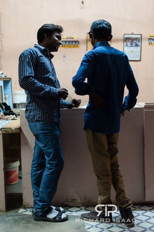 A couple of Indian guys about to buy Bhang at the government-licensed Bhang shop