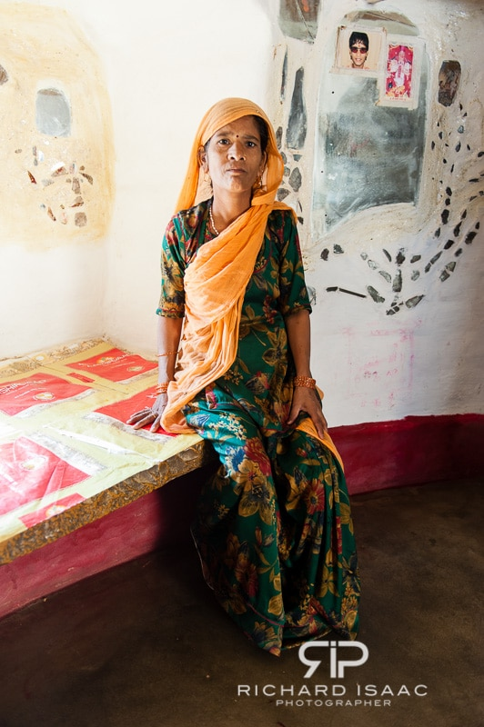 A Jaisalmer fort resident in her home.