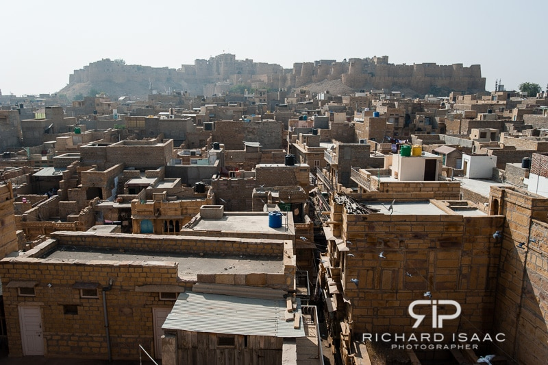 A view of Jaisalmer town and fort from the top of Patwon-ki-Haveli