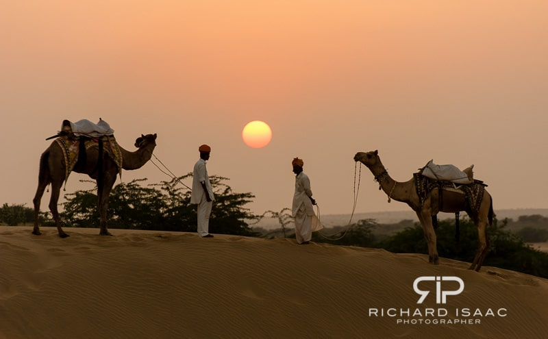 Sunset at the Khuri dunes