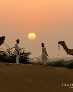 A postcard desert sunset shot at the dunes near Khuri, Western Rajasthan, India