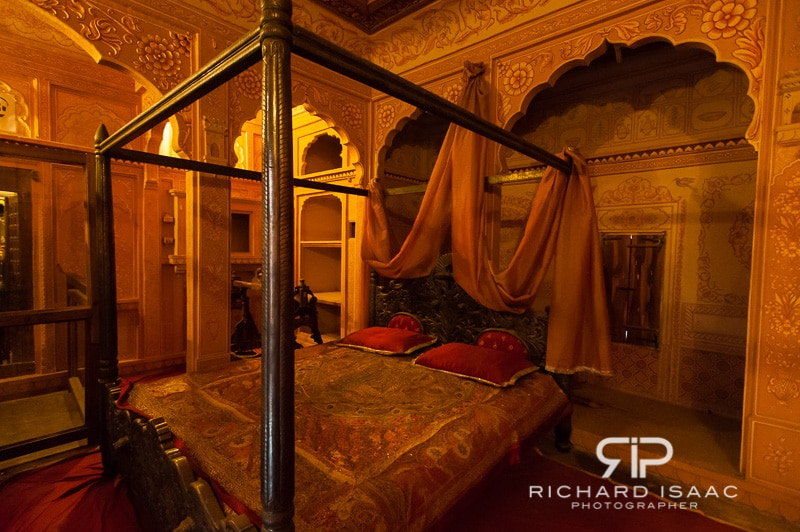 A bedroom inside Patwon-ki-Haveli