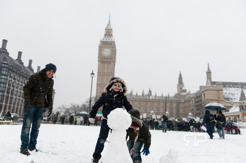 Parliament square in the snow, 20/1/13