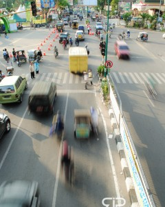 Indonesian city traffic - Medan, Sumatra