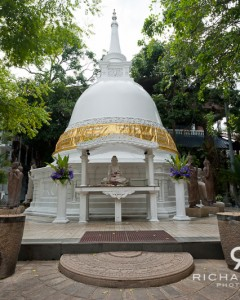 The Cetiya (pagoda) at the Gangaramaya Buddhist temple in Colombo, Sri Lanka