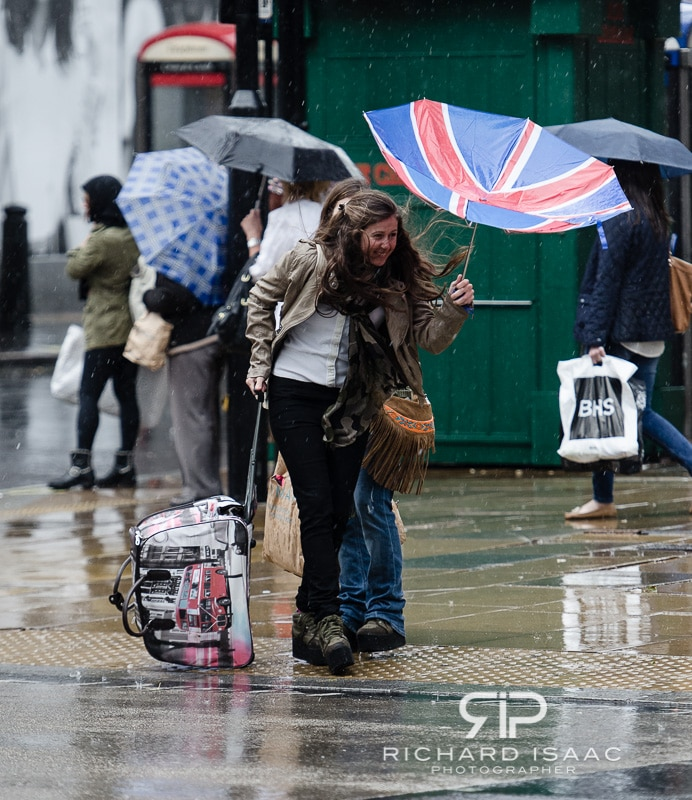 Heavy rain and storms strike London - 23/9/12