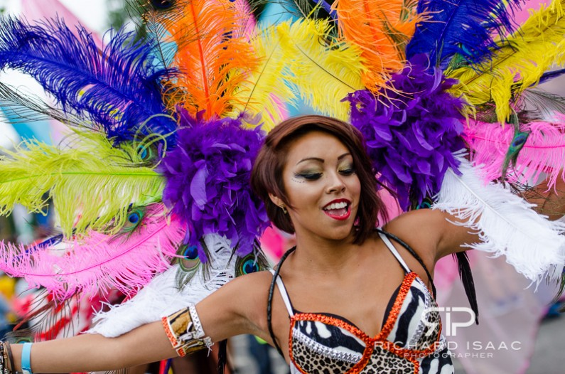 A participant at the Notting HIll Carnival in London - 27/8/12