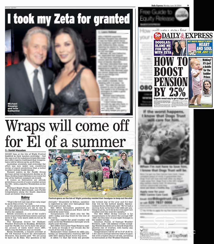 Isle of Wight Festival 2014 - Daily Express 16 /6/14 image usage