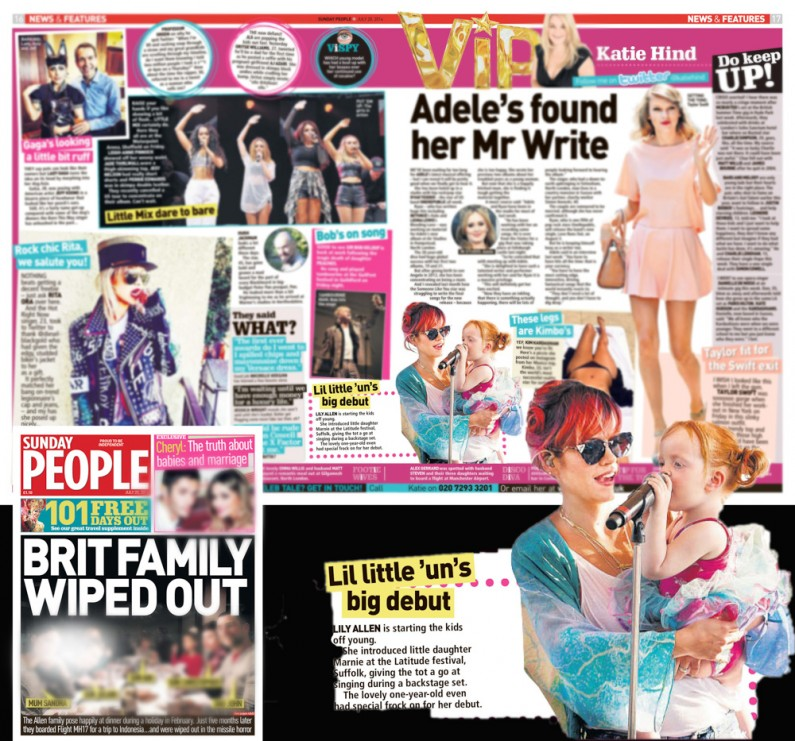 Latitude Festival 2014 Lily Allen performing - image usage Sunday People 20/7/14