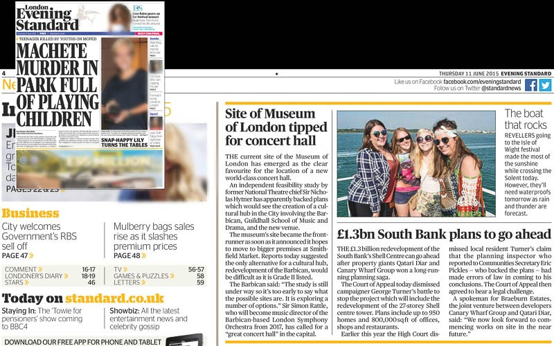 Image usage Evening Standard 11 June 2015 - Isle of Wight Festival 2015 atmosphere