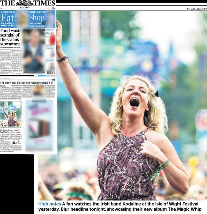 Image usage Times 13 June 2015 - Isle of Wight Festival 2015 atmosphere