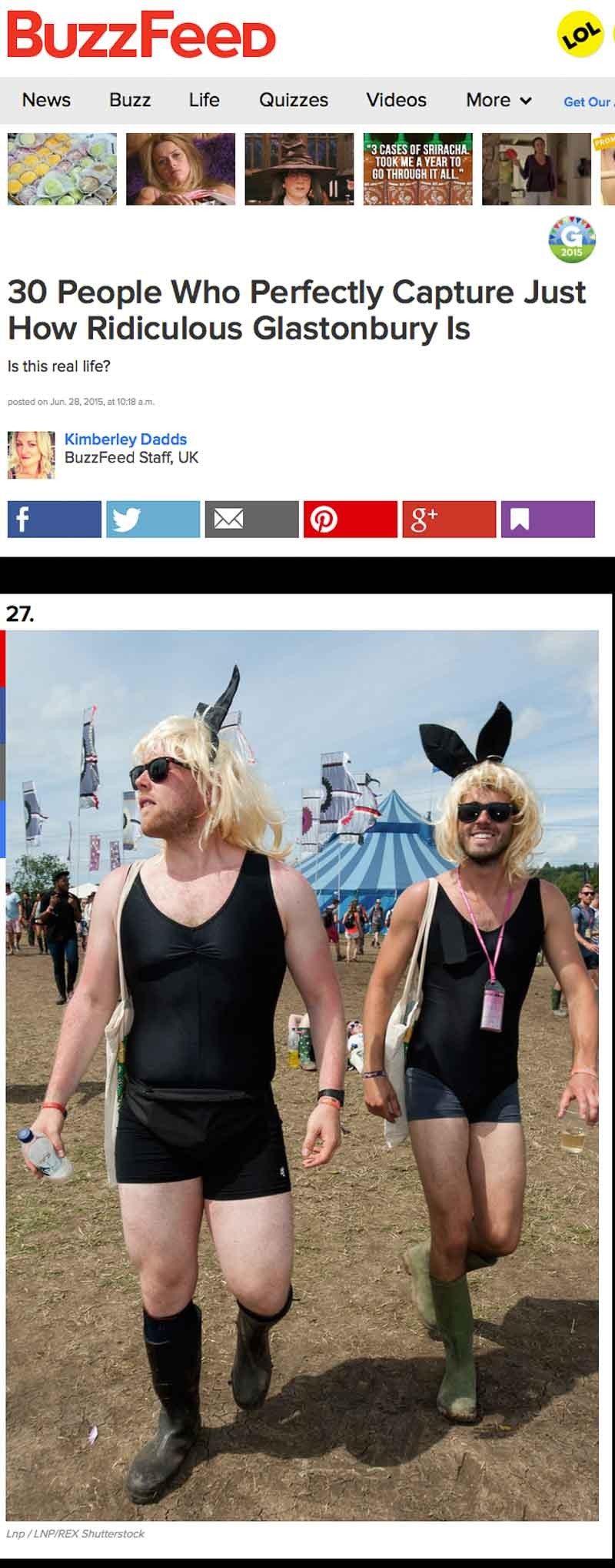 Image usage - Buzzfeed June 2015 - Glastonbury Festival 2015