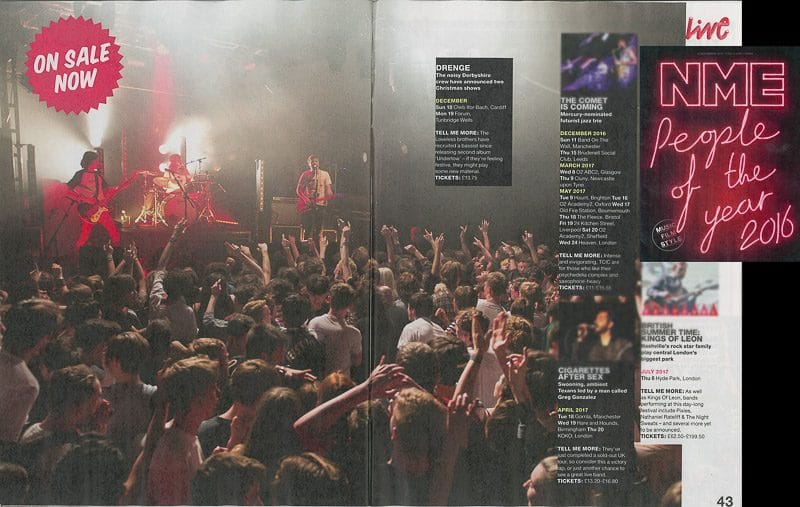 Image usage - NME 9 December 2016 - Drenge live at the Electric Ballroom 21 April 2015