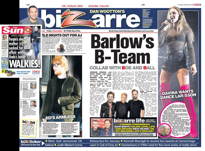 Image Usage - Sun newspaper 26/10/17 - Zara Larsson live at Eventim Apollo 24/10/17